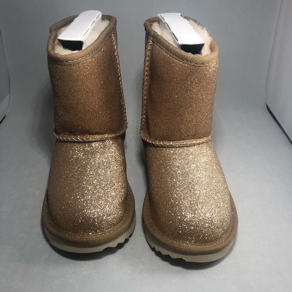 UGG Other - Ugg Kids Classic Short Gold Glitter Boot